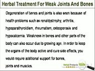 Herbal Treatment For Weak Joints And Bones That Is Safe And