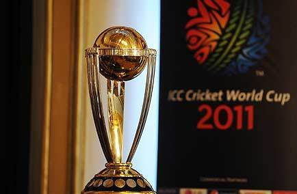icc world cup cricket trophy. cricket world cup 2011 logo.