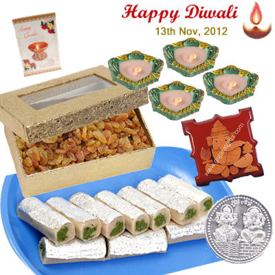 Diwali Dry Fruit Thali - Inspire Emotions though Gujarat Gifts
