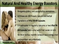 Top Natural And Healthy Energy Boosters