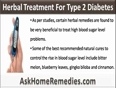 Use Herbal Treatment For Type 2 Diabetes To Control Blood Glucose Level