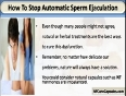 How To Stop Automatic Sperm Ejaculation While Sleeping At Night