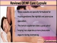 NF Cure Capsule Reviews, Is This Product Worth Trying For Nightfall