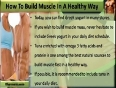 I Am Skinny And I Want To Build Muscle Fast In A Healthy Way