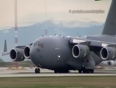 Canadian forces c-17 landing at yvr - vancouver int_l airpor