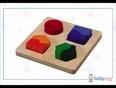 19 plan toys shape matching board