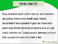 Herbal Hair Care Oil To Prevent Hair Fall, Hair Loss