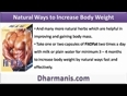Natural Ways to Increase Body Weight Fast And Effectively