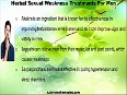Herbal Sexual Weakness Treatments For Men To Increase Stamina And Power