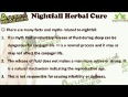 Best authentic herbal treatment for severe nightfall problem in men