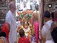 Navratri festivities Nation worshipping Goddess Durga on navami