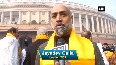 TDP MPs stage protest in Parliament over demand of special status to AP
