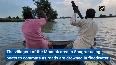 Crops submerged in rainwater following incessant rainfall in Punjabs Sangrur