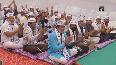 Delhi CM Kejriwal meets newly-elected AAP corporators in Surat