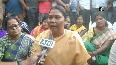 Jashpur incident BJP MP Gomati Sai sits on Dharna, demands thorough probe