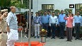 Rajnath Singh hoists flag at his residence on 72nd Indpendence Day