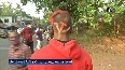 Kerala polls LDF supporter arrives at polling booth with CPI (M) logo shaved on head