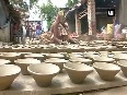 Demand of earthen lamps surges ahead of Diwali
