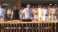 PM pays tribute to Gandhi, Vajpayee before swearing-in