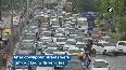 Traffic snarls in Delhi following downpour