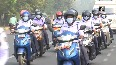 All-women scooter rally in Bhubaneswar
