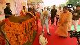 PM Modi seen patting a calf in Mathura, Watch!