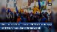 Pro Khalistani groups hold protest inside Nankana Sahib Gurudwara in Pak
