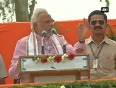 Modi attacks congress, asks voters to bring a strong bjp govt at centre