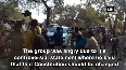 Watch Dalit group attacks vehicle of Union Minister Hegde s car