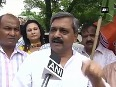 BJP and Youth Congress workers protest against AAP over petrol, diesel VAT rate hike