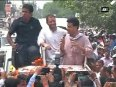 Ambulance gets stuck for 10 minutes during Rahul Gandhi s road show