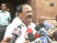 Venkaiah Naidu appeals the opposition to let Parliament function