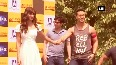 Watch: Fans cheer as Tiger and Disha arrive in a chopper