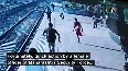 Watch: Female officer saves passenger from being crushed under train