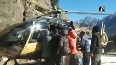 Watch: Sick lady rescued and airlifted from Chamoli