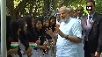 Watch PM Modi meets, interacts with school children