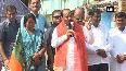CM Raghubar Das holds Johar Jan Ashirwad Yatra in Jharkhands Jamtara