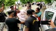 Police thrash ABVP activists for stopping Maha minister's car