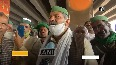Delhi Chalo UP farmers arrive at Delhi-Ghaziabad border in support of Punjab farmers.mp4
