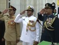 Bsf  pakistan rangers exchange sweets at wagah border on pakistan s independence day