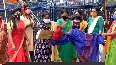 BJP Mahila Morcha protests over alleged rape of COVID positive woman by ambulance driver.mp4