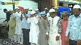 People offer prayers on the occasion of Eid al-Adha