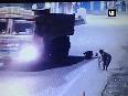 Caught on cam: Speeding lorry hits sweeper in Warangal