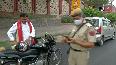 COVID-19 outbreak Delhi Police fine commuters with no mask.mp4