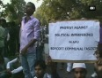 Amu students protest against political interference in the university
