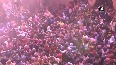 Watch Colours of Holi whirl in air at Mathura s Banke Bihari temple