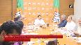 JP Nadda holds meeting at BJP HQ