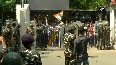 Watch TMC protesters pelt stones at security forces outside CBI office in Kolkata