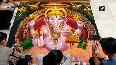 Watch: Artists make 'rangoli' featuring Lord Ganesha in Nashik