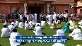 Watch Congress MLAs perform yoga at Fairmont Hotel in Jaipur.mp4